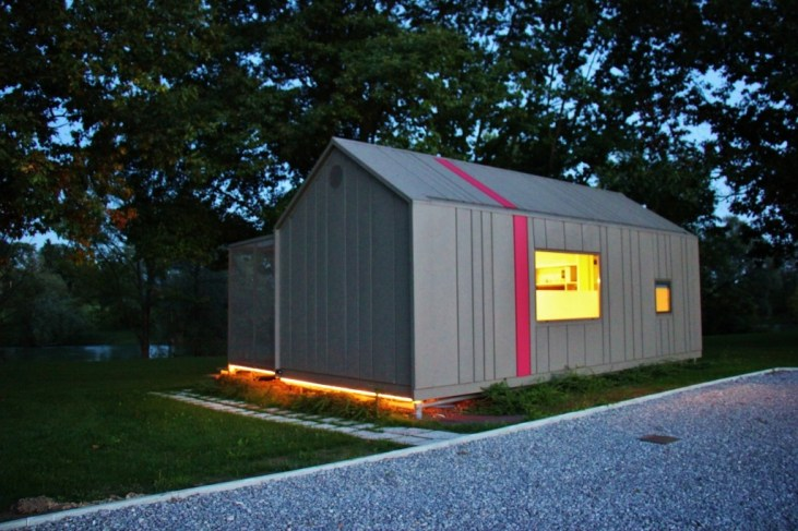 Big Berry Glamping hut at night, Bela Krajina, Slovenia