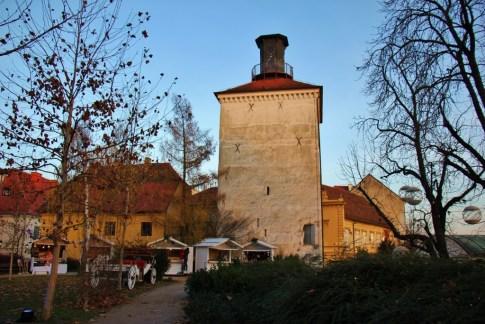Kula Lotrscak watchtower in Zagreb, Croatia