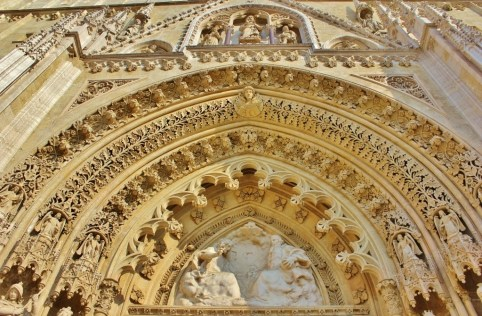 Ornate facade of Zagreb Cathedral in Zagreb, Croatia
