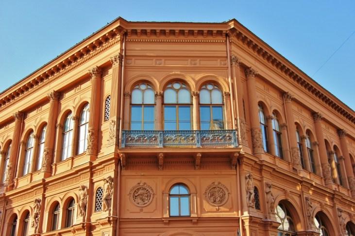 Art Museum Riga Bourse on Dome Square in Riga, Latvia