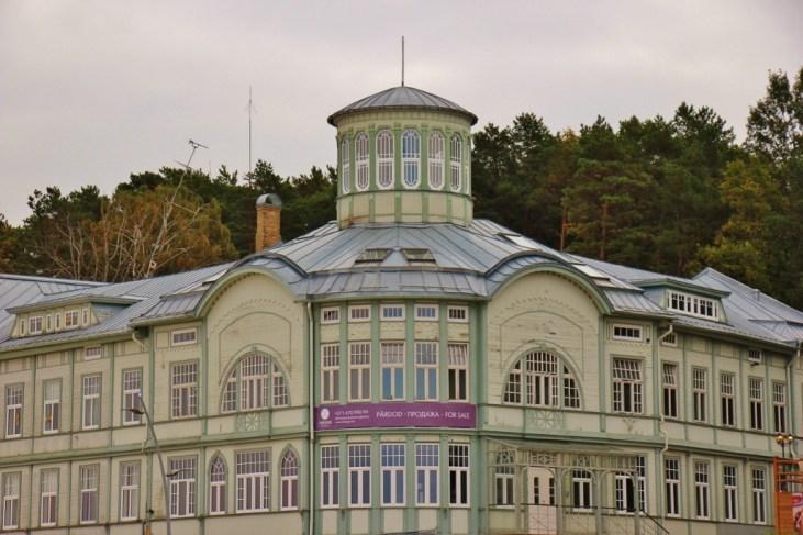 Wooden bathhouse of E Racene in Jurmala, Latvia