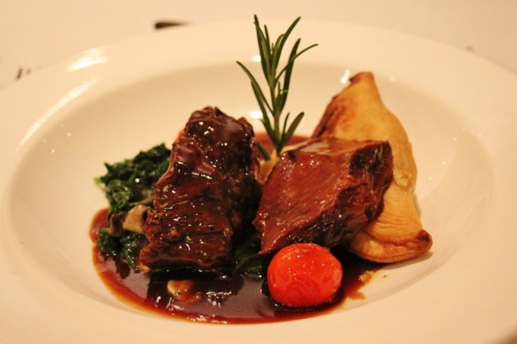 Beef Brisket main meal on Viking Amsterdam to Budapest cruise