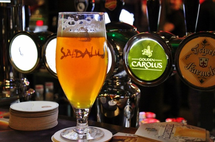 Pint of craft beer at Beerhouse No. 1 in Riga, Latvia