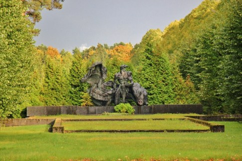 Statue at Forest Cemetery in Riga, Latvia