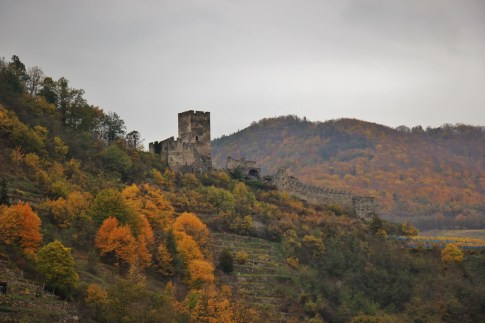 Hill castle in Wachau Valley, Austria