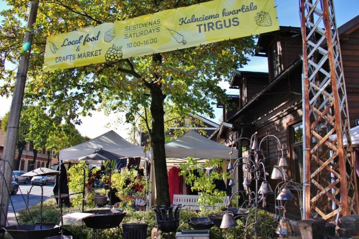 The Kalnciema Farmer's Market in Riga, Latvia