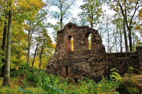 Crumblin remains of Krimulda Medieval Castle in Sigulda, Latvia