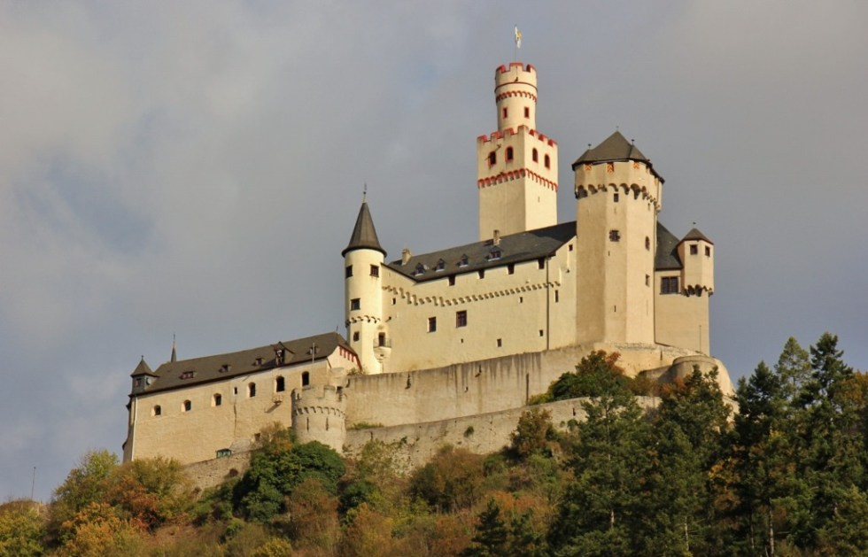 Marksburg Castle on Romantic Rhine River in Germany