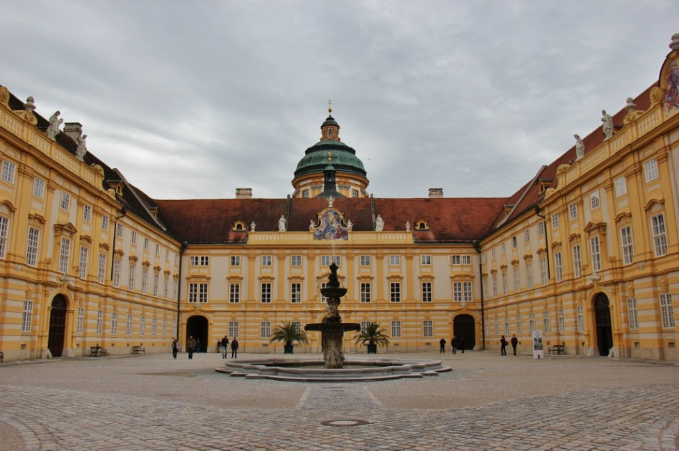 Courtyard in Melk Abbey in Austria
