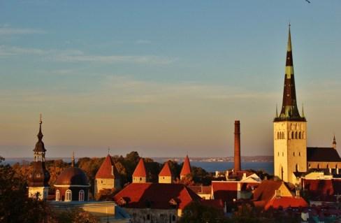 Patkuli Viewing Platform on Toompea Hill in Tallinn, Estonia