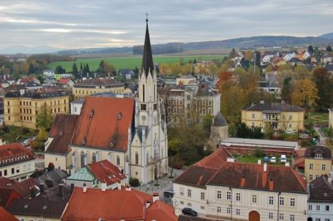 Catholic Church in town of Melk, Austria