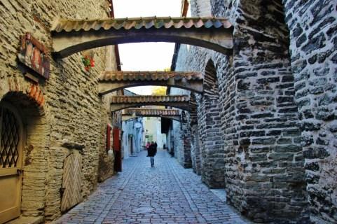 Historic St. Catherine's Passage in Tallinn, Estonia Old Town