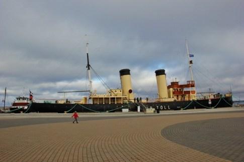 100-year-old steam-powered Icebreaker ship at Lennusadam Seaplane Harbor Museum in Tallinn, Estonia
