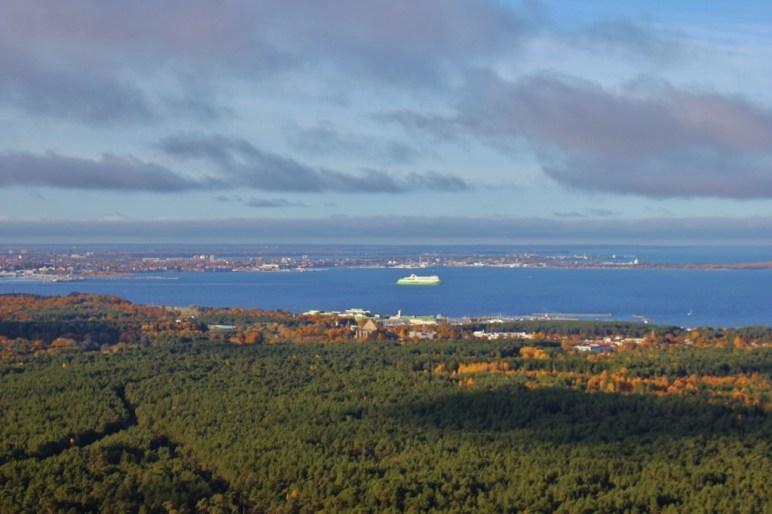 Sea view from Tallinn TV Tower in Tallinn, Estonia