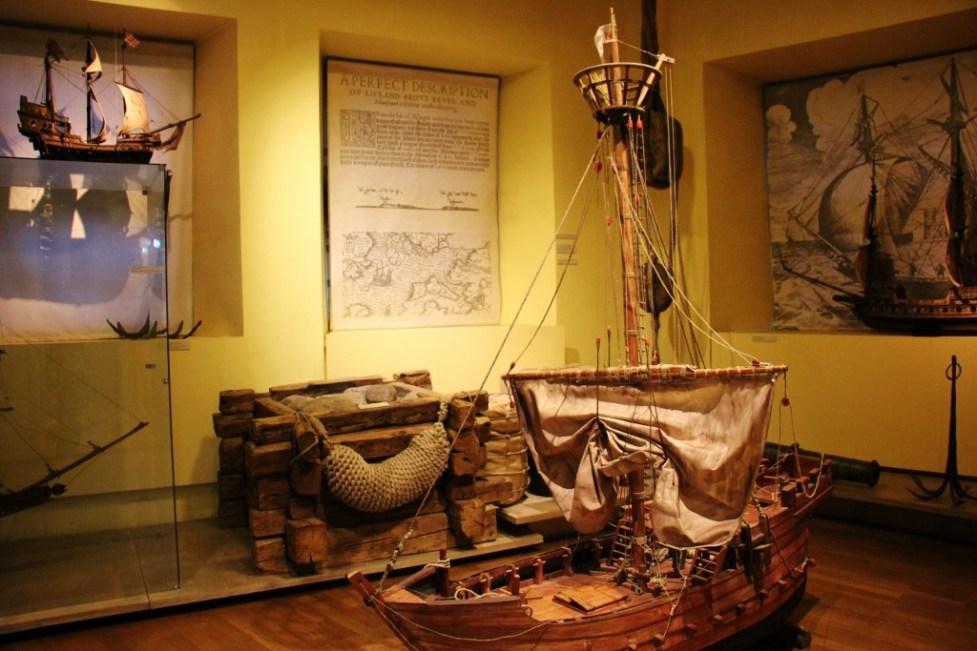 Boat display at Tallinn City Museum in Tallinn, Estonia