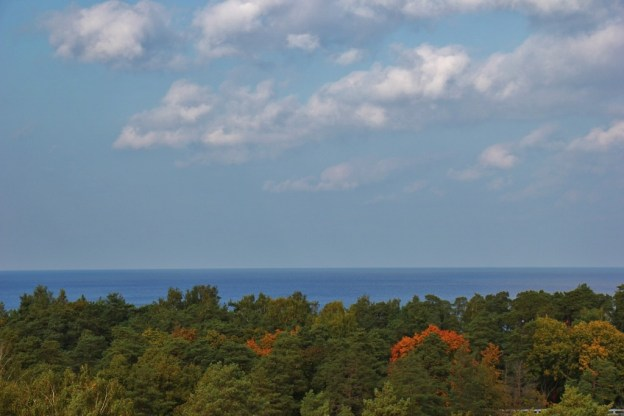 Sea views of Gulf of Riga from Dzintaru Panoramic Tower in Jurmala, Latvia