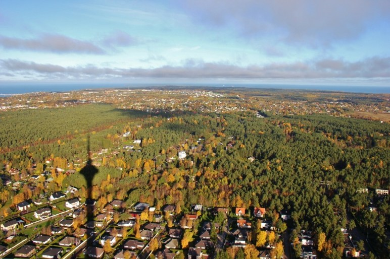 Landscape view from top of TV Tower in Tallinn, Estonia