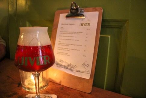 Glass of beer at Bierlokaal de Uiver in Haarlem, Netherlands