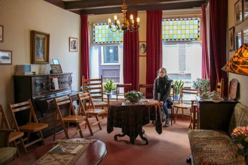 Gathering room at Corrie ten Boom House Museum in Haarlem, Netherlands