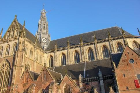 Great Chruch of St. Bavo, Grote of St. Bavokerk in Haarlem, Netherlands