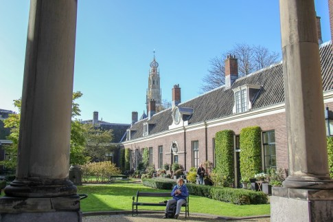 Spacious Hofje Courtyard Garden in Haarlem, Netherlands