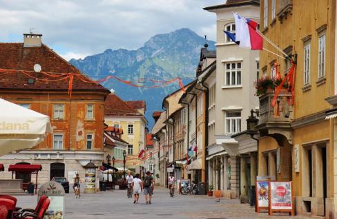 Glavni Trg main square in Kranj, Slovenia