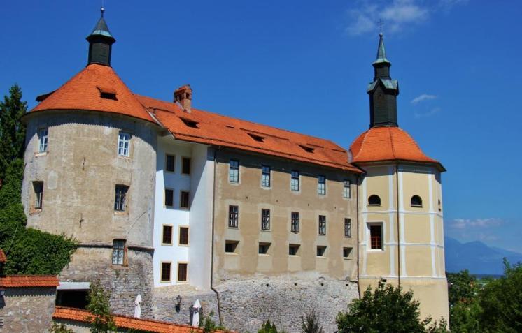 The Skofja Loka Castle in Skofja Loka, Slovenia