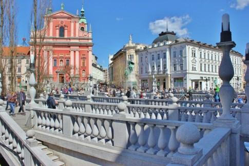 The Triple Bridge in Ljubljana, Slovenia