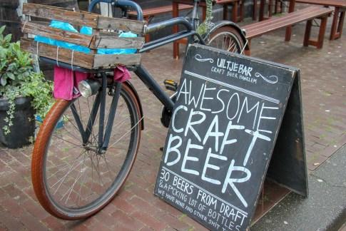 Uiltje Bar Awesome Craft Beer sign, Haarlem, Netherlands