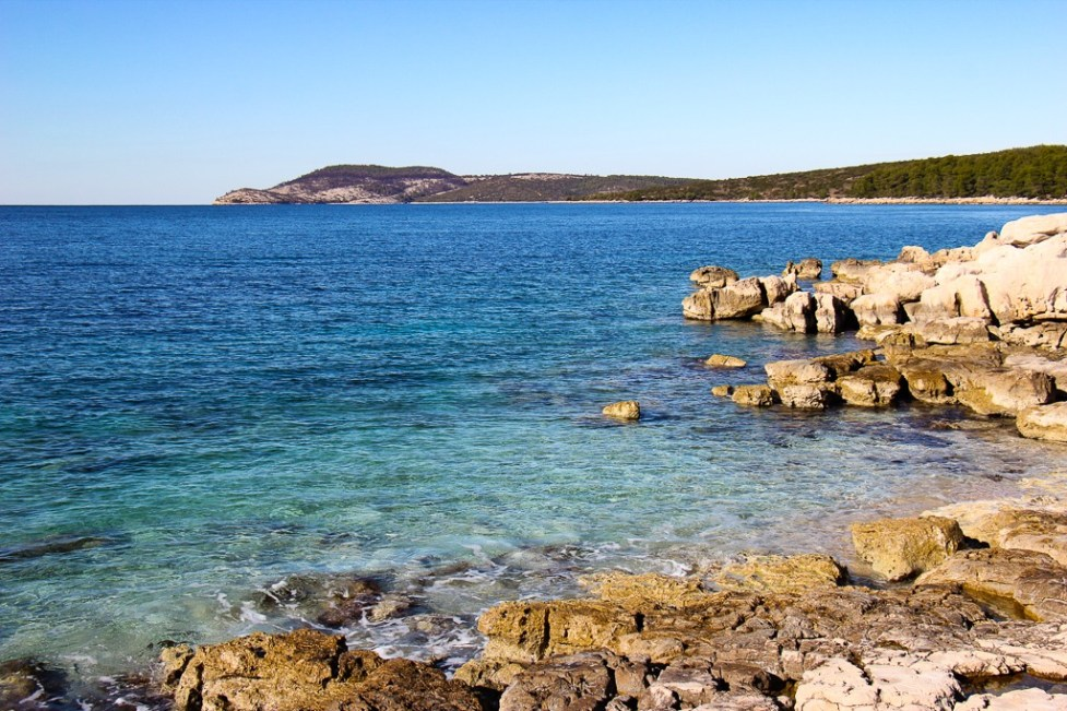 FKK Nude Beach on Kabal Peninsula in Stari Grad on Hvar Island, Croatia
