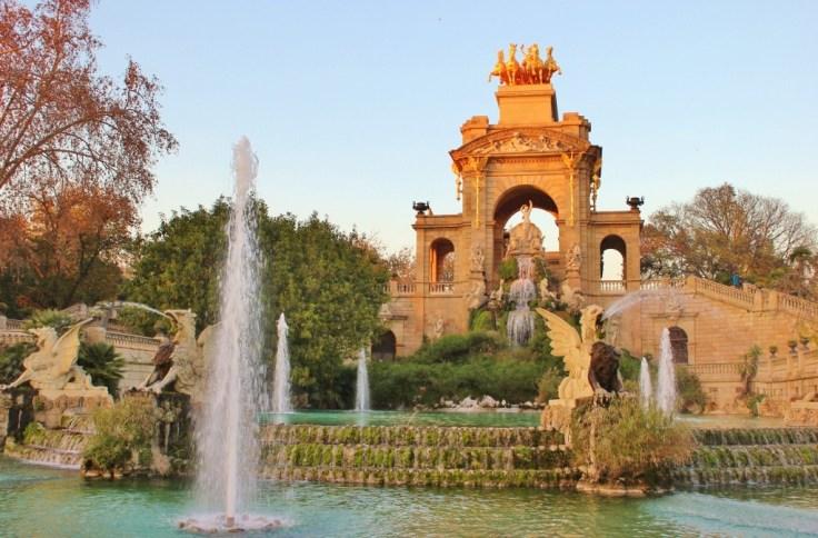 Monument in Parc de la Ciutadella in Barcelona, Spain