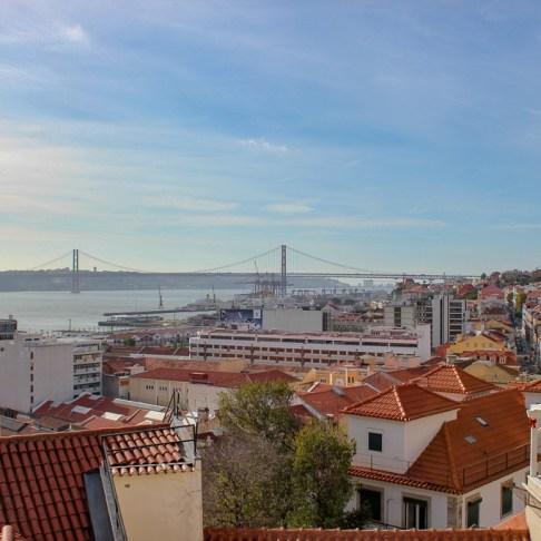 Miradouro de Santa Catarina Lisboa in Lisbon, Portugal