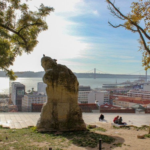 Adamastor viewpoint in Lisbon, Portugal