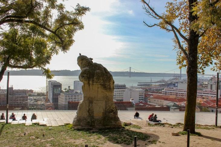 Adamastor viewpoint in Lisbon, Portugal