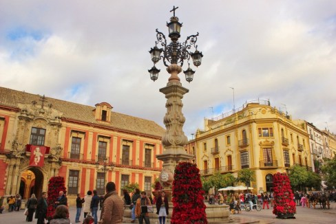 Plaza de la Virgen de los Reyes in Central Seville, Spain