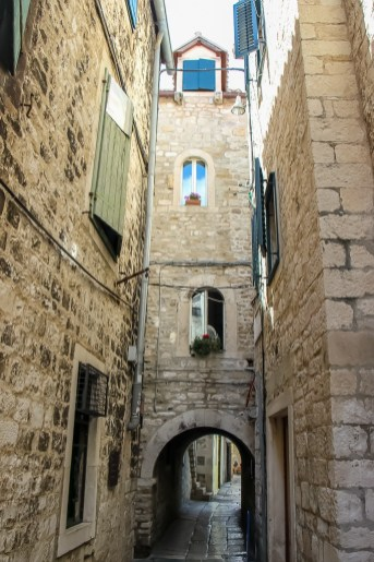 Alley in Dicoletian's Palace, Split, Croatia