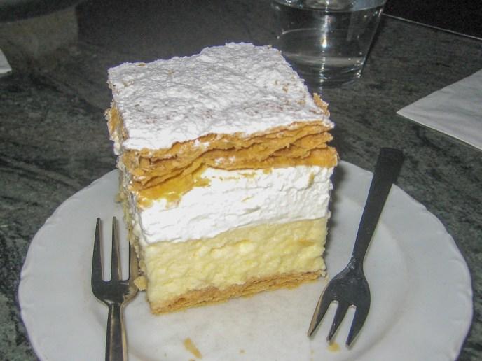 Lake Bled Cream Cake, Kremsnita, Slovenia