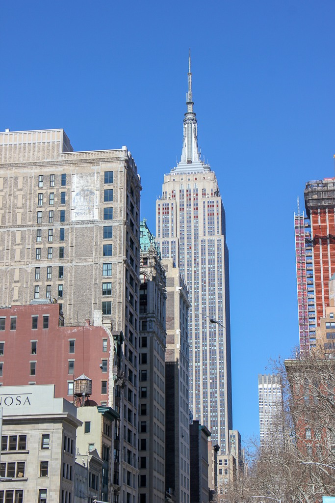 Empire State Building from Madison Square Park in New York City, New York