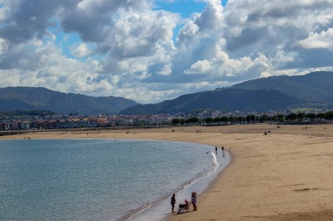 Public beach in Hondarribia, Spain