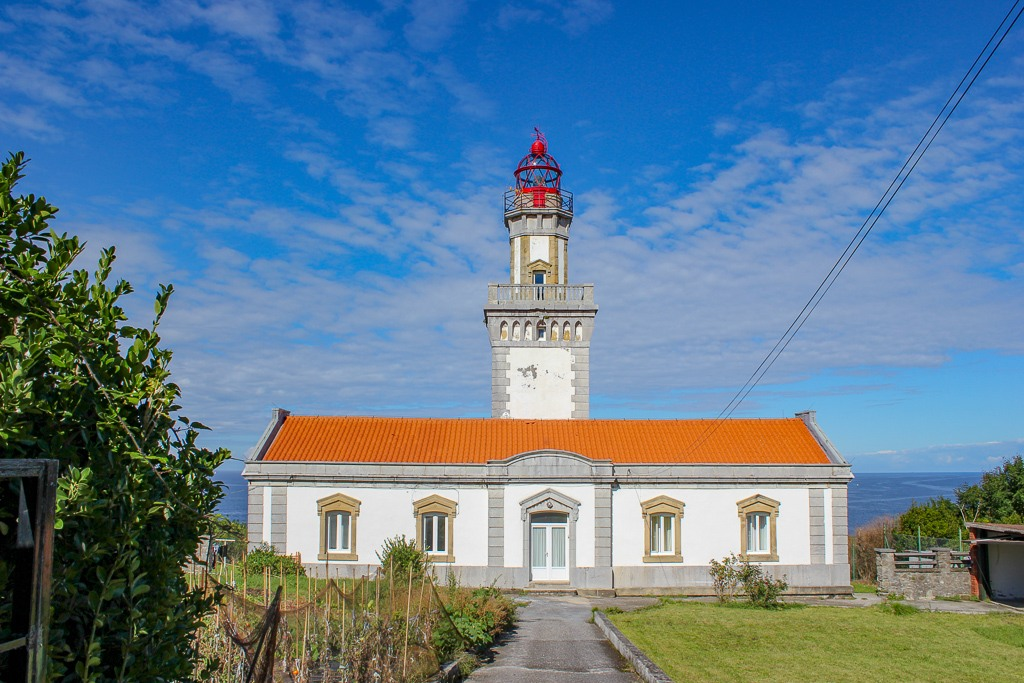 Hondarribia Lighthouse in Basque Country, Spain