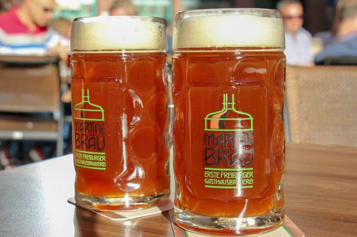 Beers at Martin's Brau in Freiburg, Germany