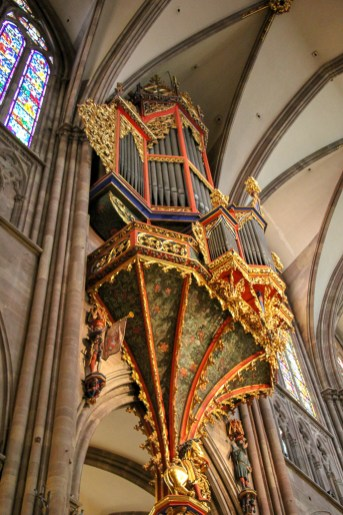 The Great Organ in Notre Dame Cathedral in Strasbourg, France