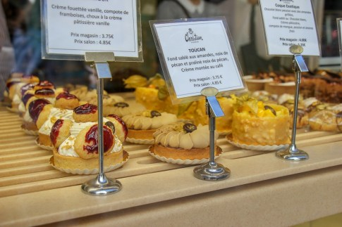 Pastries in bakery window in Strasbourg, France