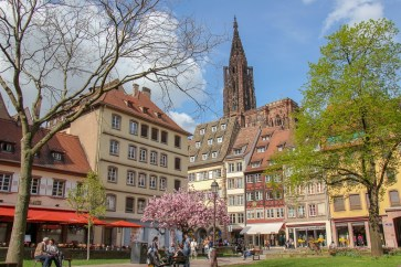 Picturesque Place es Tripiers Square in Strasbourg, France