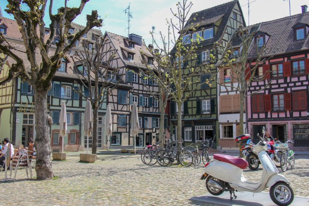 Enclosed square, Place du Marche Gayot, in Strasbourg, France