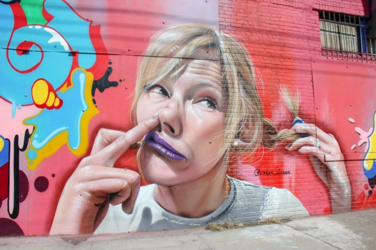 Street Art Mural at The Bushwick Collective in Brooklyn in New York City, New York