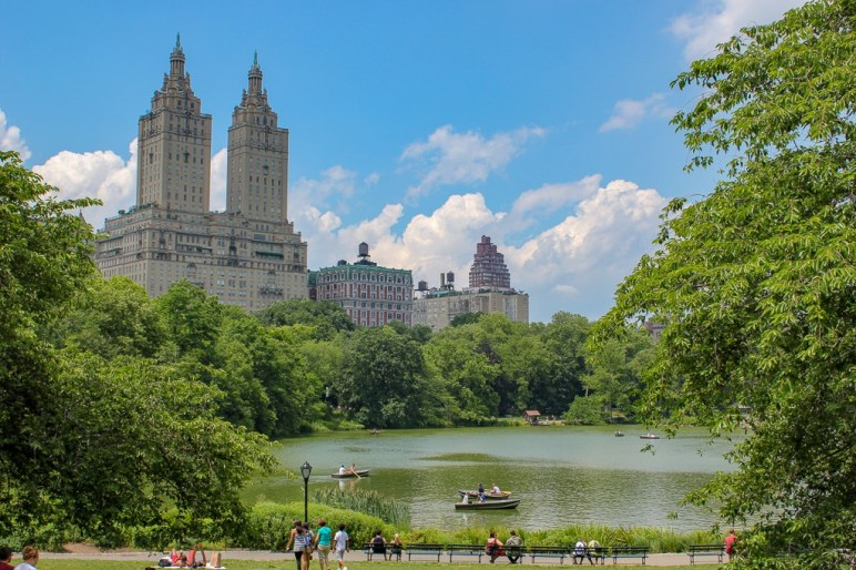 The Lake from Bethesda Terrace in Central Park in New York City, New York