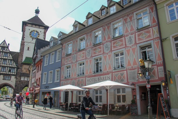 Oldest Hotel in Germany and Europe, Zum Rote Baren, in Freiburg, Germany
