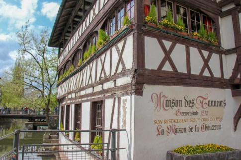 Half-timbered house, Maison des Tanneurs, in Petite France in Strasbourg, France