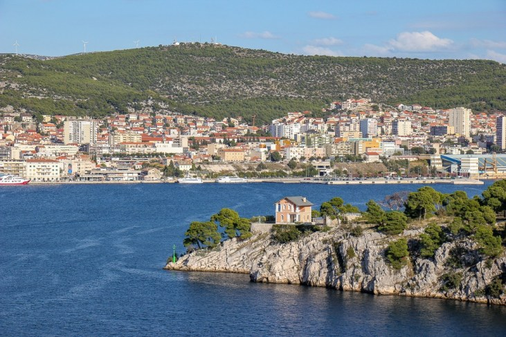 Walking on the path for an Amazing view of Sibenik, Croatia